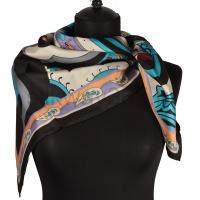 Платок женский шелковый (твил) 90*90 №11
