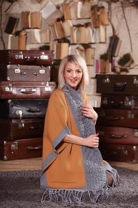 CAPE style с карманами и длинным вязаным воротом