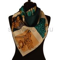 Платок женский шелковый (твил) 90*90 №23