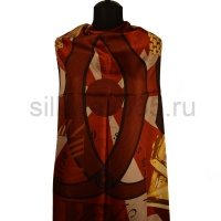 Платок женский шелковый (твил) 90*90 №24