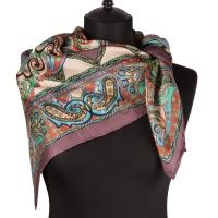 Платок женский шелковый (твил) 90*90 №15