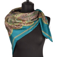 Платок женский шелковый (твил) 90*90 №17