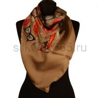 Платок женский шелковый (твил) 90*90 №25